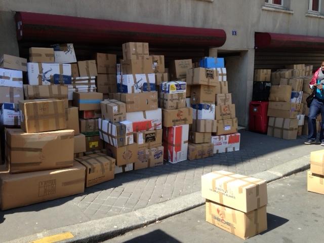 Un container pour les réfugiés syriens