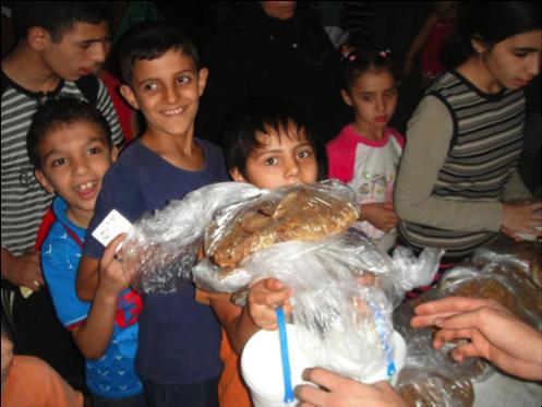 Aide aux enfants orphelins de la ville de Homs